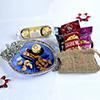 Chocolates, Dryfruits, Metal Bowl & Tikka Box