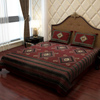Classic Bed Sheet in Maroon and Black