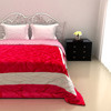 Classic Double Bed Quilt in Hot Pink