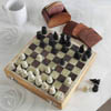 Classic Wooden Chessboard And Coasters