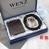 Classy Dark Brown Pure Leather Wallet & Belt Gift Set