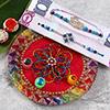 Colorful Designer Rakhi Set with Puja Thali
