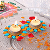 Colorful Floating Diyas