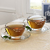 Cool Dad's Hot Tea Personalized Cup and Saucer Set of Two