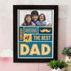 Coolest Awesome Best Dad Personalized A3 Photo Frame