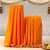 Cotton Orange Colored Dhoti & Stole Set