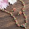 Crimson Zirconia Sterling Necklace
