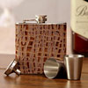 Croc Print Hip Flask & Shot Glasses Set