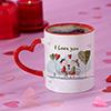 Cute Couple Personalized Heart Handle Mug