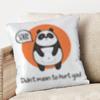 Cute Panda Sorry Cushion