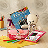 Cute Teddy Bear with Drawing Art Set and Pencil Box