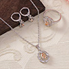 CZ Stone Studded Lovely Pendant Set and a Ring
