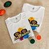 DaBhang Personalized Tshirts (set of 2) with Gulal