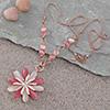 Daisy Swarovski Studded Necklace - Pink