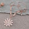Daisy Swarovski Studded Necklace - Rose Gold