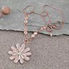 Daisy Swarovski Studded Necklace - Rose Gold