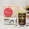 Dark Chocolate Cocoa with Hersheys Nuggets in a Polka Dot Bag
