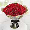 Dazzling 100 Red Roses Hand Tied
