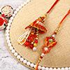 Dazzling Pearl Work Bhaiya Bhabhi Rakhi