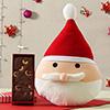 Delicious Plum Cake with Cute Santa