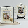 Delightful Personalized Birthday Clock & Card Combo