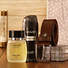 Denver Deo & Perfume Set With Leather Belt