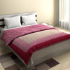 Designer Double Bed Traditional Quilts in Ivory White