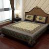 Designer Gray Cotton Bed Sheet
