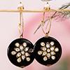 Designer Kundan Work Semi Precious Stone Earrings