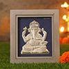Designer Silver Ganesha Frame