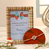 Diamond Studded Rakhi with Personalized Photo Frame