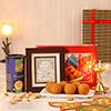 Divine Brass Diya with Silver Hanuman Ji & Diwali Hamper