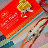 Divine Rakhi Set of 3 with Soan Papdi