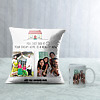 Dream Home Personalized Cushion & Mug for House Warming