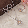 Dynamic CZ Stone Studded Pendant Set and a Ring
