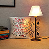 Electric Lamp with Satin Cushion