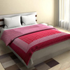 Elegant Cotton Quilt in Crimson and Plum