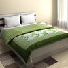 Elegant Cotton Quilt in Forest Green and Grey