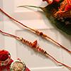 Elegant Rakhi Set of Two Rakhis Made In Traditional Design