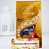 Elegant Rakhi with Lindt Chocolate
