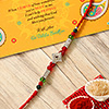 Elegant Shining Beads Stone Rakhi
