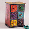 Embossed Painted Wooden Drawer Box