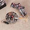 Ernesto Guevra Theme Glass Ashtray & Matchbox Set