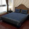 Ethic Bed Sheet in Combination of Plum and Ivory White