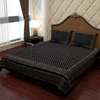 Ethnic Bed Sheet in Exotic Black and Ivory White