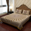 Ethnic Bed Sheet in Golden and Gray