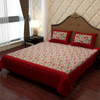 Ethnic Bed Sheet in Maroon and Gray