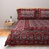 Ethnic Bed sheets in Maroon and Gray