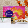 Exquisite Rakhi with 250g Kaju Katli & Cadbury Celebrations