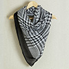 Fashionable Stole in Classic Black and Gray